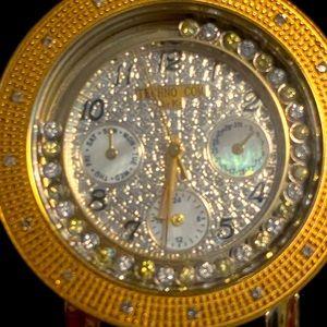 diamond watch by Techno com by Kc.